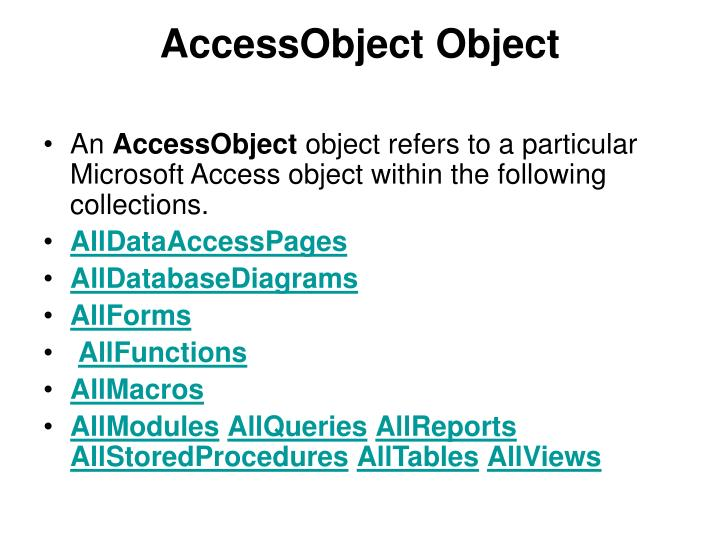 AccessObject Object