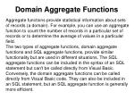 domain aggregate functions