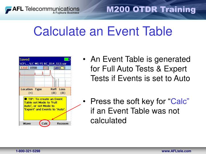 Calculate an Event Table