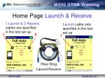 home page launch receive