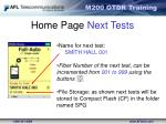 home page next tests