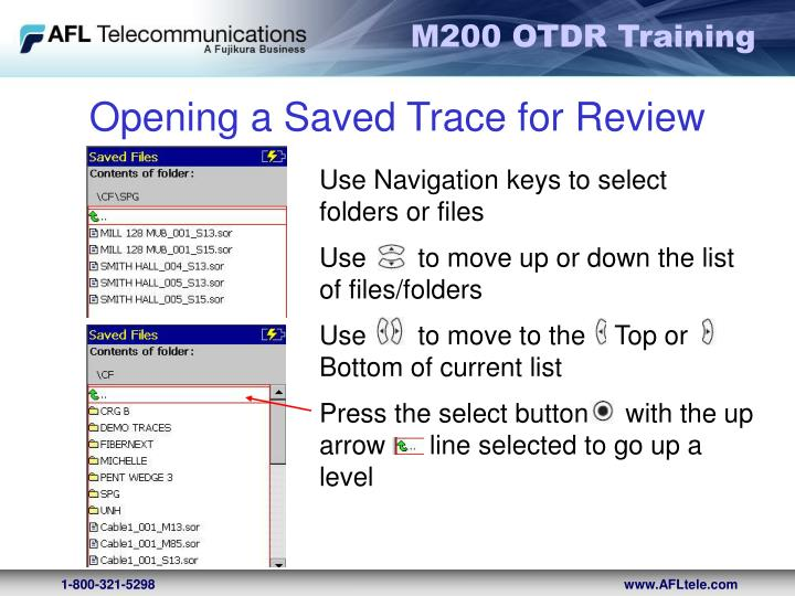 Opening a Saved Trace for Review
