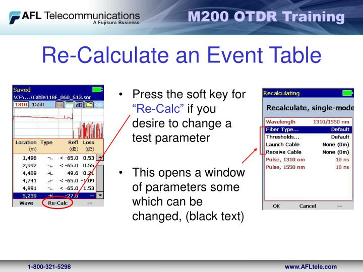 Re-Calculate an Event Table