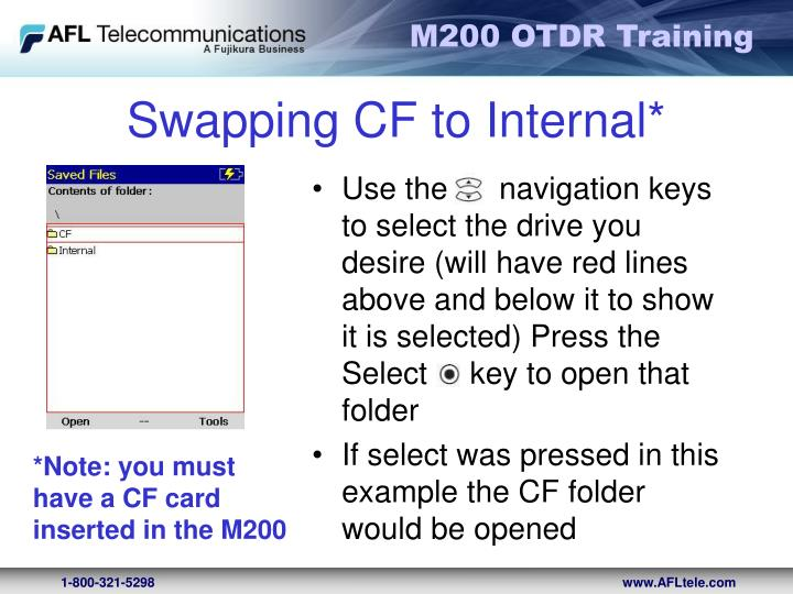 Swapping CF to Internal*