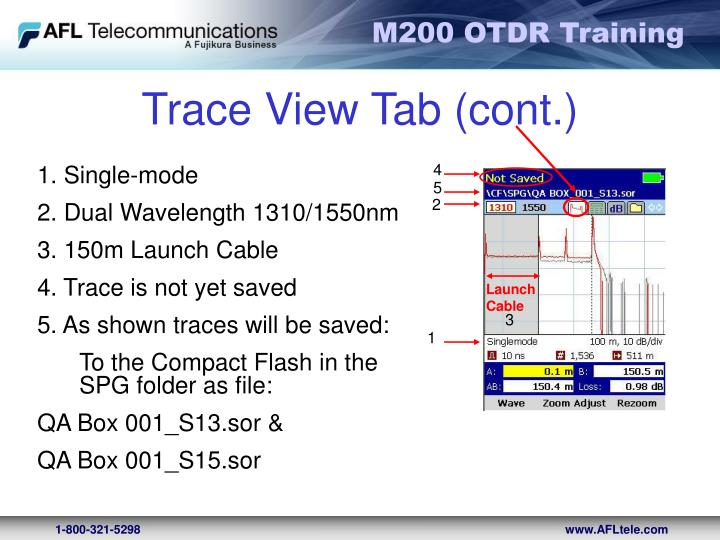 Trace View Tab (cont.)
