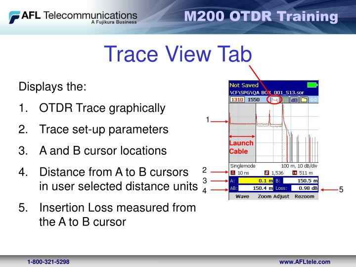Trace View Tab