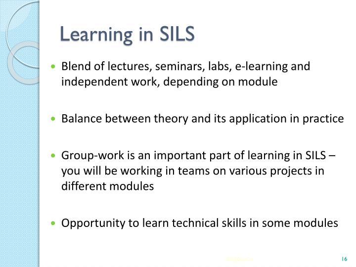 Learning in SILS