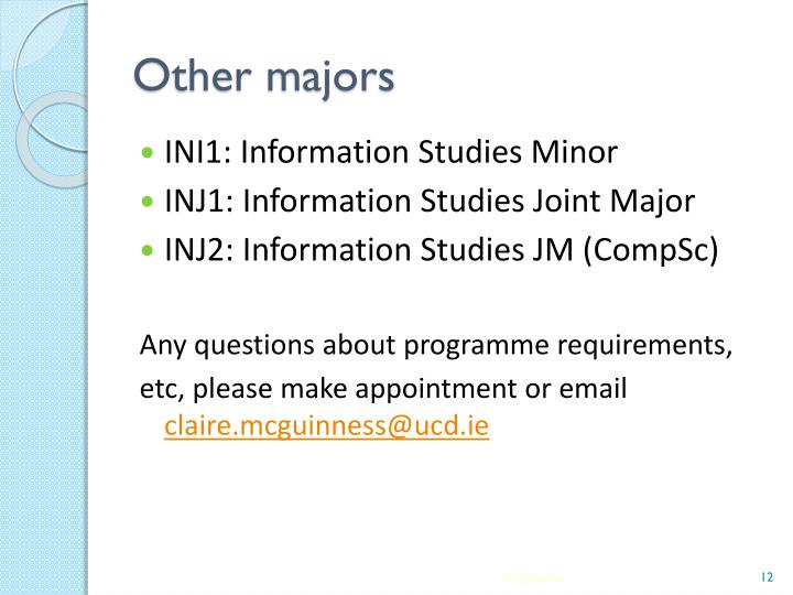 Other majors