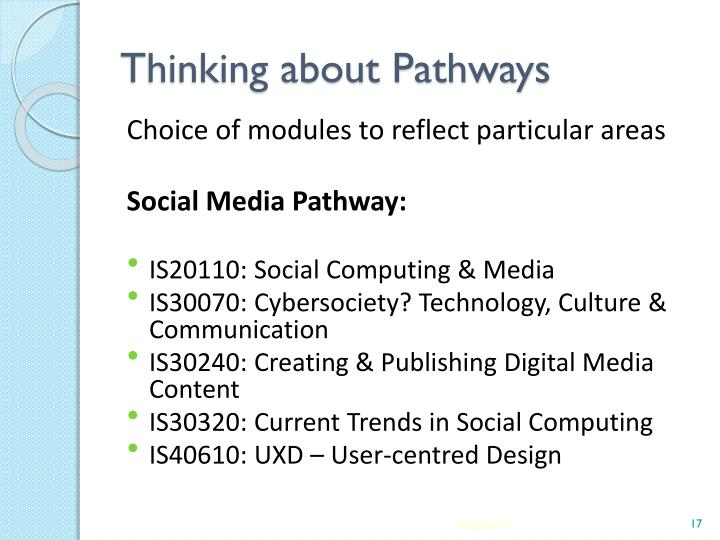 Thinking about Pathways
