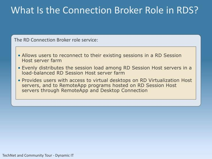What Is the Connection Broker Role in RDS?