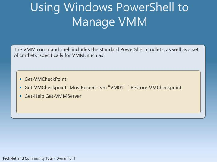 Using Windows PowerShell to Manage VMM