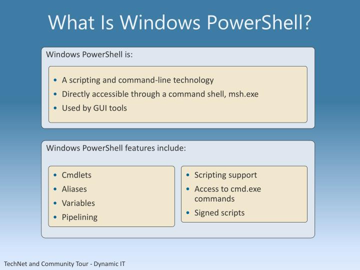 What Is Windows PowerShell?