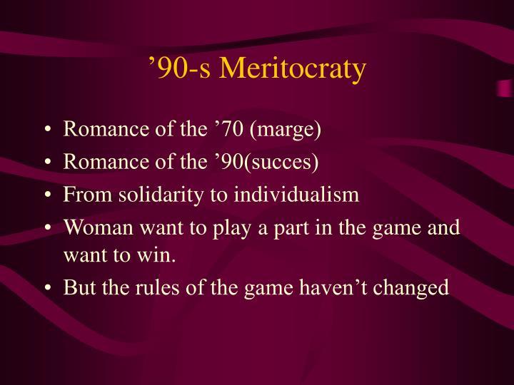 '90-s Meritocraty