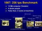 1987 256 tps benchmark