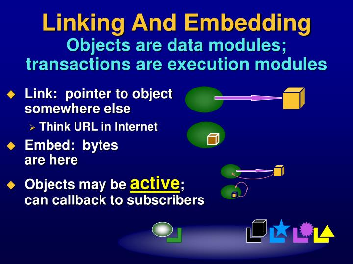 Linking And Embedding