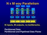 n x m way parallelism