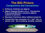 the big picture components and transactions