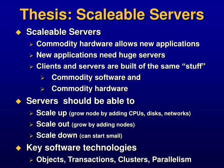 Thesis scaleable servers