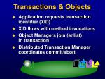 transactions objects