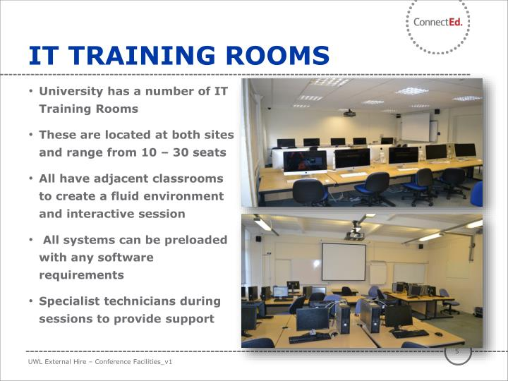 IT TRAINING ROOMS