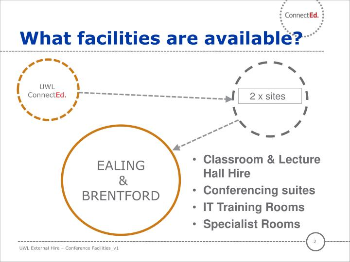 What facilities are available