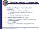 preventing veteran homelessness