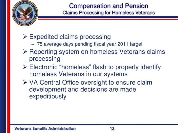 Compensation and Pension
