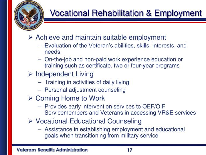 Achieve and maintain suitable employment