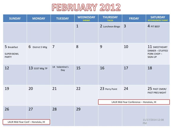 FEBRUARY 2012