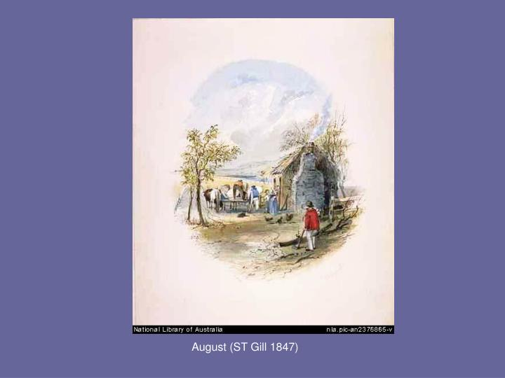 August (ST Gill 1847)