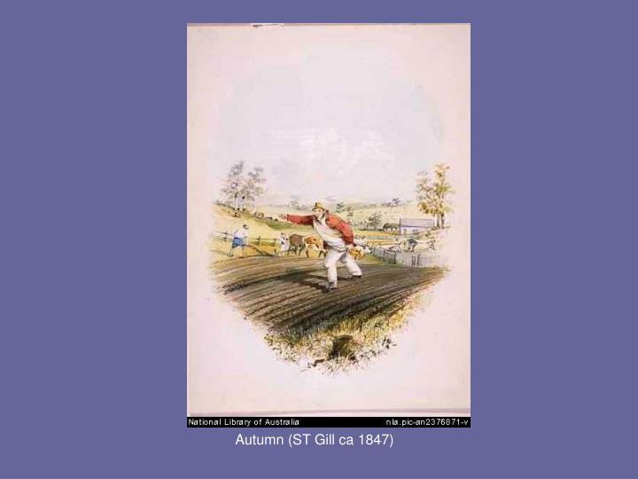 Autumn (ST Gill ca 1847)