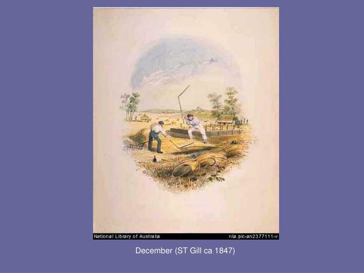 December (ST Gill ca 1847)