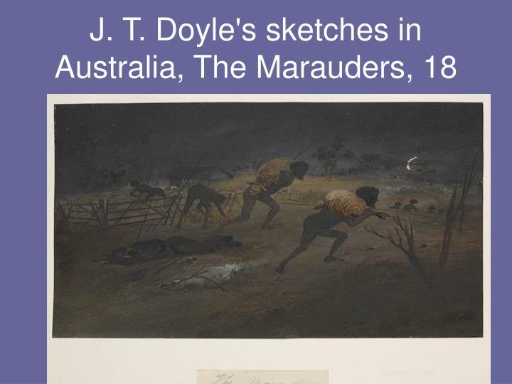 J. T. Doyle's sketches in Australia, The Marauders, 18