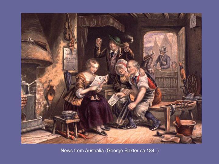 News from Australia (George Baxter ca 184_)