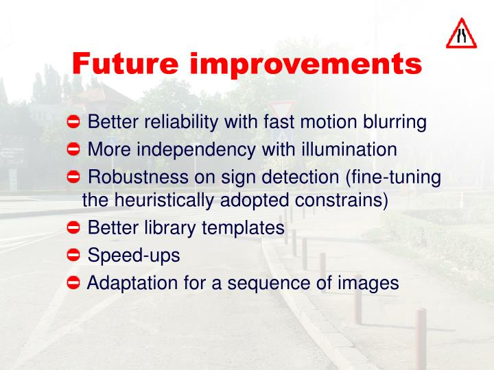 Future improvements