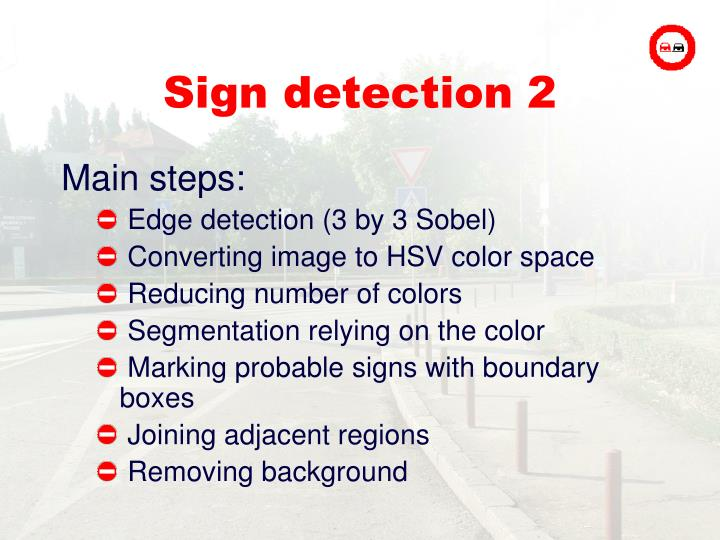 Sign detection 2