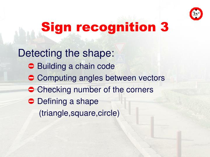 Sign recognition 3
