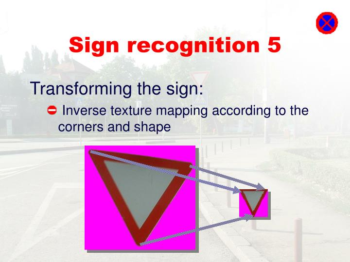 Sign recognition 5