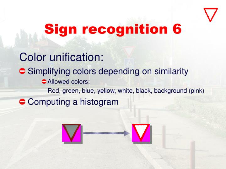 Sign recognition 6