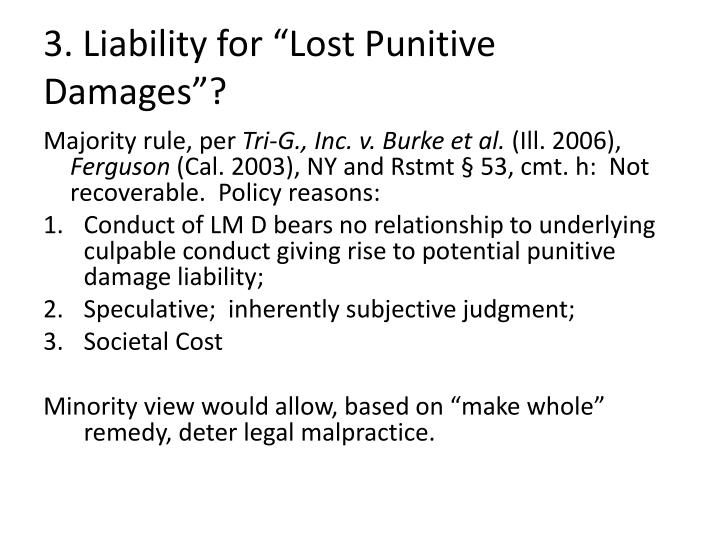 "3. Liability for ""Lost Punitive Damages""?"