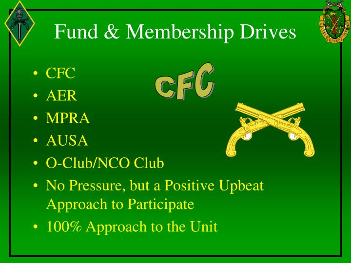 Fund & Membership Drives