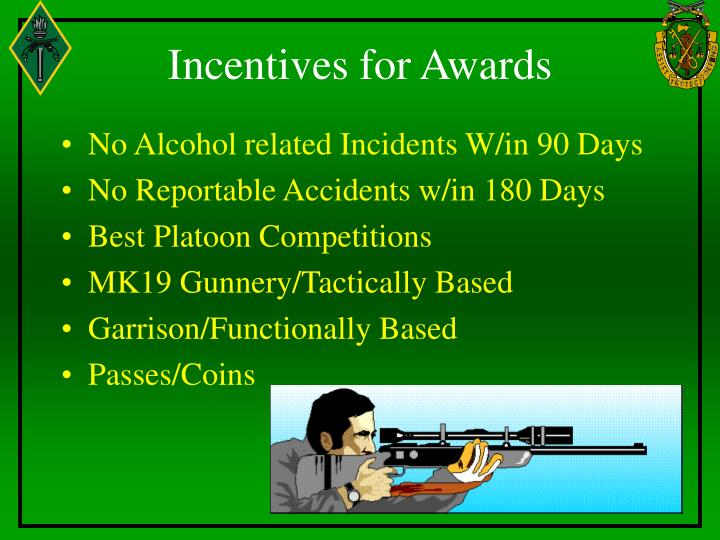 Incentives for Awards
