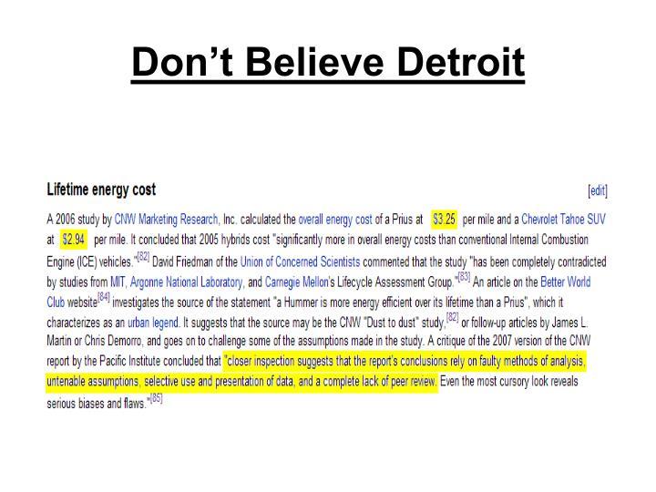 Don't Believe Detroit
