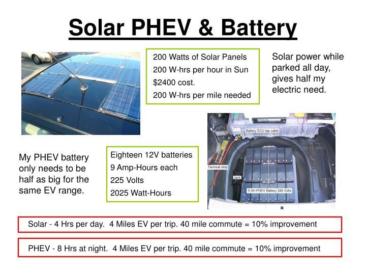 Solar PHEV & Battery