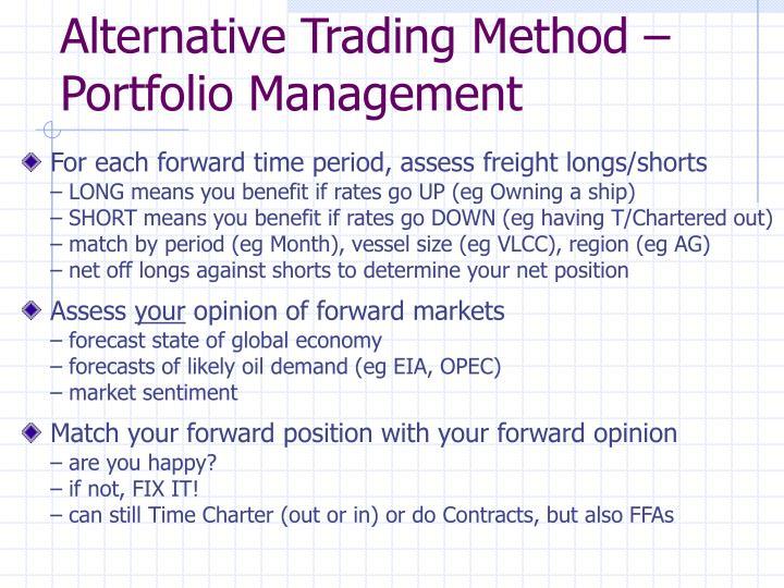 Alternative Trading Method – Portfolio Management