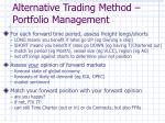 alternative trading method portfolio management