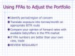 using ffas to adjust the portfolio