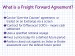 what is a freight forward agreement