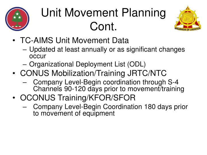 Unit Movement Planning