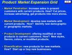 product market expansion grid